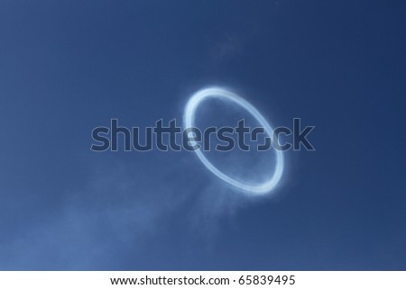 Smoke ring from a Civil War cannon discharge