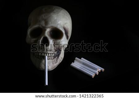 smoke, smoker, cigarette, cigarettes, tobacco, drug, drugs, addict, addiction, health, skull, skeleton, unhealthy, death, medical, medicine, horror, danger, bad, hell, dead, fear, drug addition,  #1421322365