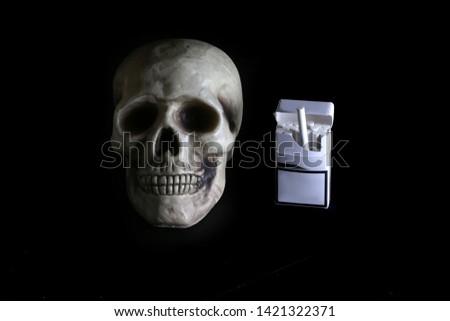 smoke, smoker, cigarette, cigarettes, tobacco, drug, drugs, addict, addiction, health, skull, skeleton, unhealthy, death, medical, medicine, horror, danger, bad, hell, dead, fear, drug addition,  #1421322371