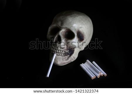 smoke, smoker, cigarette, cigarettes, tobacco, drug, drugs, addict, addiction, health, skull, skeleton, unhealthy, death, medical, medicine, horror, danger, bad, hell, dead, fear, drug addition,  #1421322374