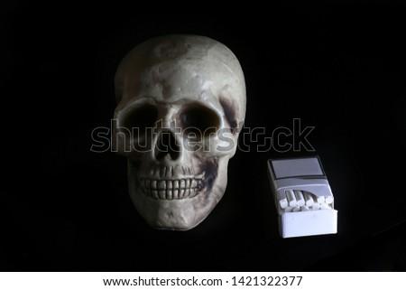 smoke, smoker, cigarette, cigarettes, tobacco, drug, drugs, addict, addiction, health, skull, skeleton, unhealthy, death, medical, medicine, horror, danger, bad, hell, dead, fear, drug addition,  #1421322377