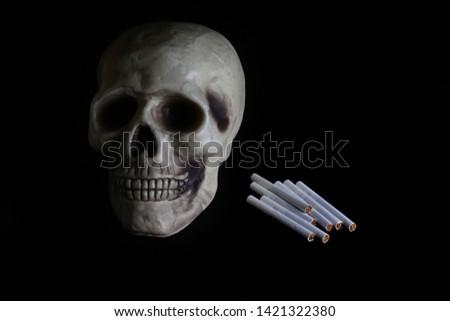 smoke, smoker, cigarette, cigarettes, tobacco, drug, drugs, addict, addiction, health, skull, skeleton, unhealthy, death, medical, medicine, horror, danger, bad, hell, dead, fear, drug addition,  #1421322380
