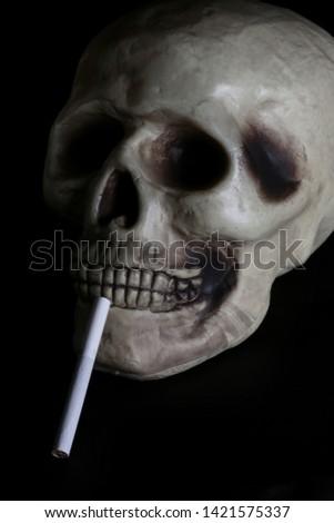 smoke, smoker, cigarette, cigarettes, tobacco, drug, drugs, addict, addiction, health, skull, skeleton, unhealthy, death, medical, medicine, horror, danger, bad, hell, dead, fear, drug addition,  #1421575337