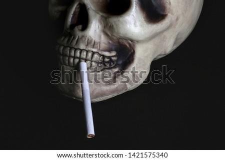 smoke, smoker, cigarette, cigarettes, tobacco, drug, drugs, addict, addiction, health, skull, skeleton, unhealthy, death, medical, medicine, horror, danger, bad, hell, dead, fear, drug addition,  #1421575340