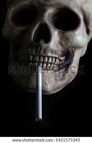 smoke, smoker, cigarette, cigarettes, tobacco, drug, drugs, addict, addiction, health, skull, skeleton, unhealthy, death, medical, medicine, horror, danger, bad, hell, dead, fear, drug addition,  #1421575343