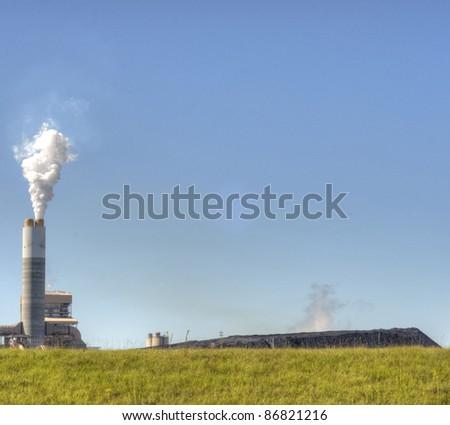 Smoke Stack with White Smoke