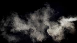 smoke texture isolated on black background