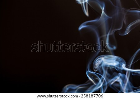 smoke with black background studio shot