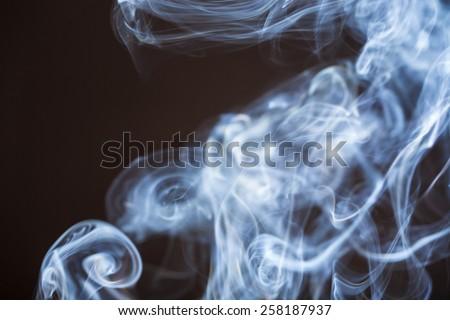 smoke with blackbackground studio shot