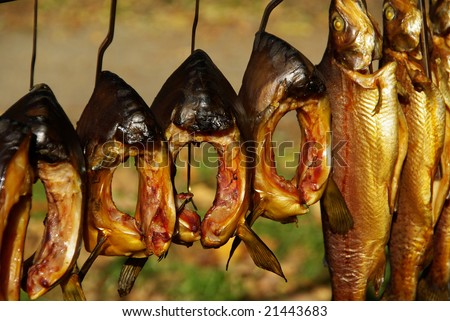 smoked fish Stock fotó ©