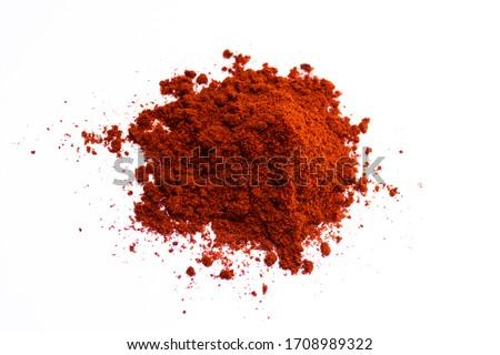 Smoked paprika. Seasoning. On a white background. Stockfoto ©