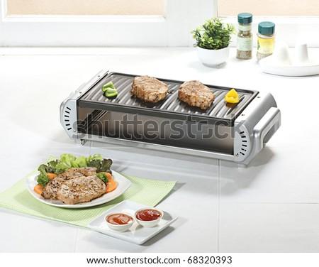 smokeless steak grill oven Stock photo ©