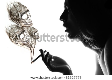 Smoker facing health problems.
