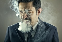 Smoker Man Portrait
