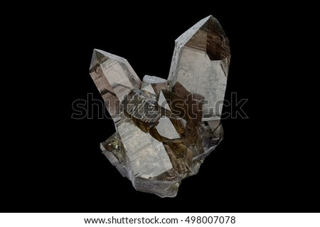 Smokey quartz from Wallis, Switzerland.  #498007078