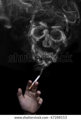 Smoking can be fatal - stock photo