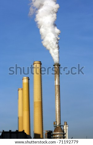 smoking chimney of coal power plant