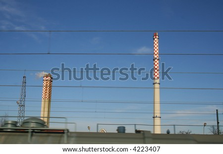 smoking factory chimney in poland
