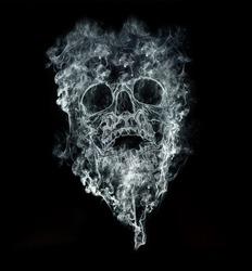 smoking kills on black background