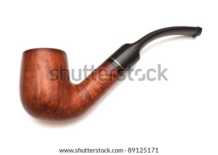 Smoking pipe, isolated on white background