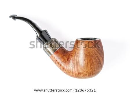 Smoking pipe on white background