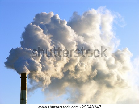 Smoking stack of thermal power station
