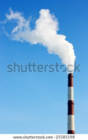 Smoking stack of thermal power station