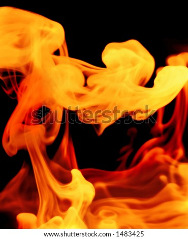 smoky forms in fiery hues