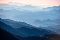 Smoky Layers Upon Layers in late autumn in the Smokies