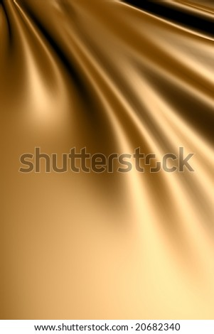 Smooth elegant gold silk fabric