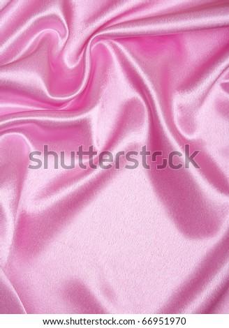 Smooth elegant pink silk as background