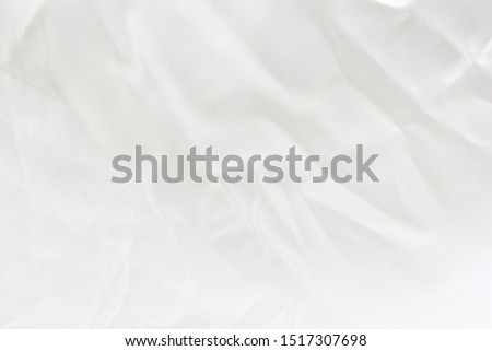Smooth elegant white cotton can use for background. abstract with soft waves,Soft focus.