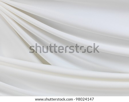Smooth elegant white silk