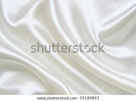 stock photo Smooth elegant white silk can use as wedding background