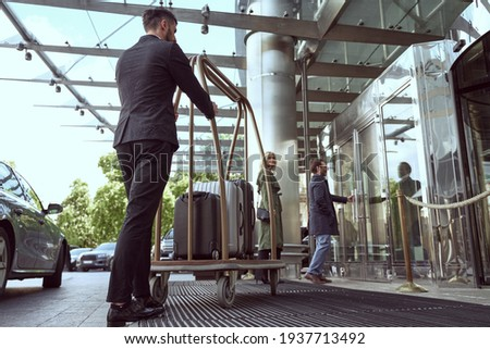 Smooth procedure of arriving at a hotel of choice Сток-фото ©