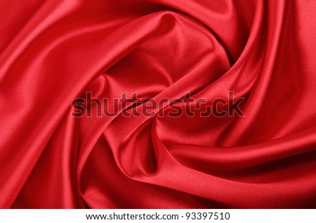 Smooth red silk background, can use as background