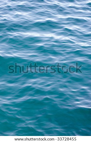 smooth ripples on the surface of a calm ocean