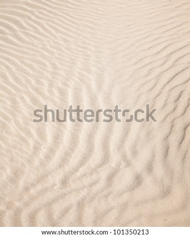 smooth sand pattern on the dunes