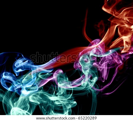Smooth smoke on a black background