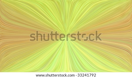 Smooth yellow and orange striped variegated background with vanishing point