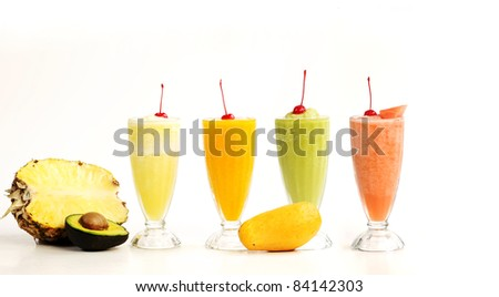 smoothie isolated on white