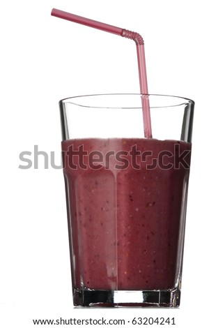 Smoothie isolated on white background