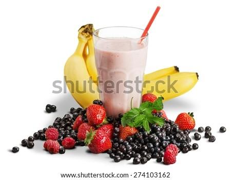 Stock Photo Smoothie, Milk Shake, Breakfast.