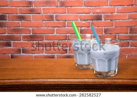 Smoothie, Milk Shake, Yogurt. #282582527