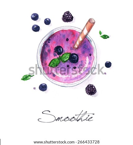 Smoothie Watercolor Food Collection
