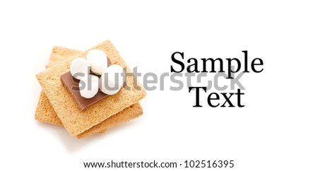 Smore Sandwich with Space for Text - stock photo
