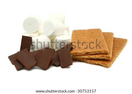 S'mores Clip Art http://www.shutterstock.com/pic-30753157/stock-photo-smores-ingredients-marshmallows-chocolate-graham-crackers.html