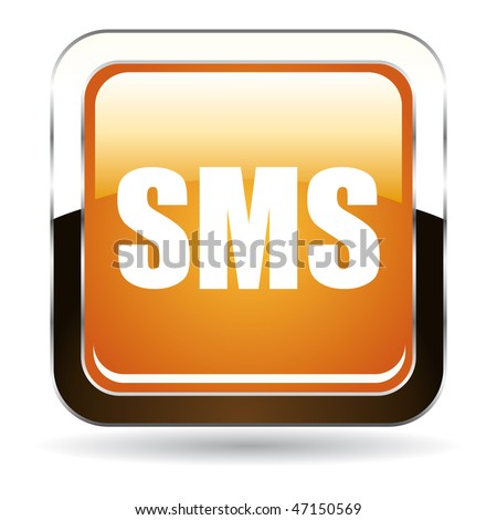 stock photo : SMS button