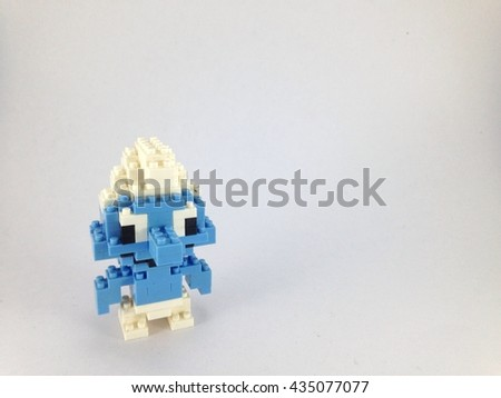 Stock Photo smurfs lego nano on white background
