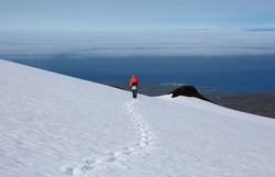 Snæfellsjökull - glacier-capped stratovolcano in western Iceland